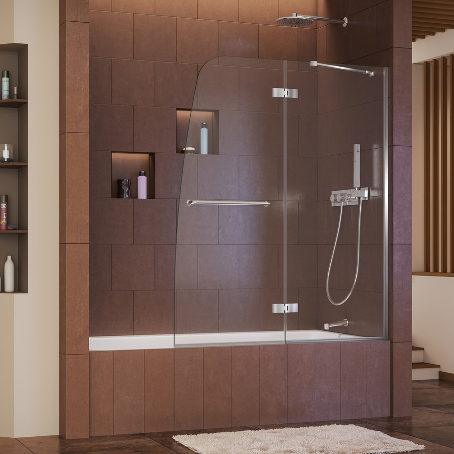 DreamLine Aqua Ultra 48-in W x 58-in H Frameless Bathtub Door