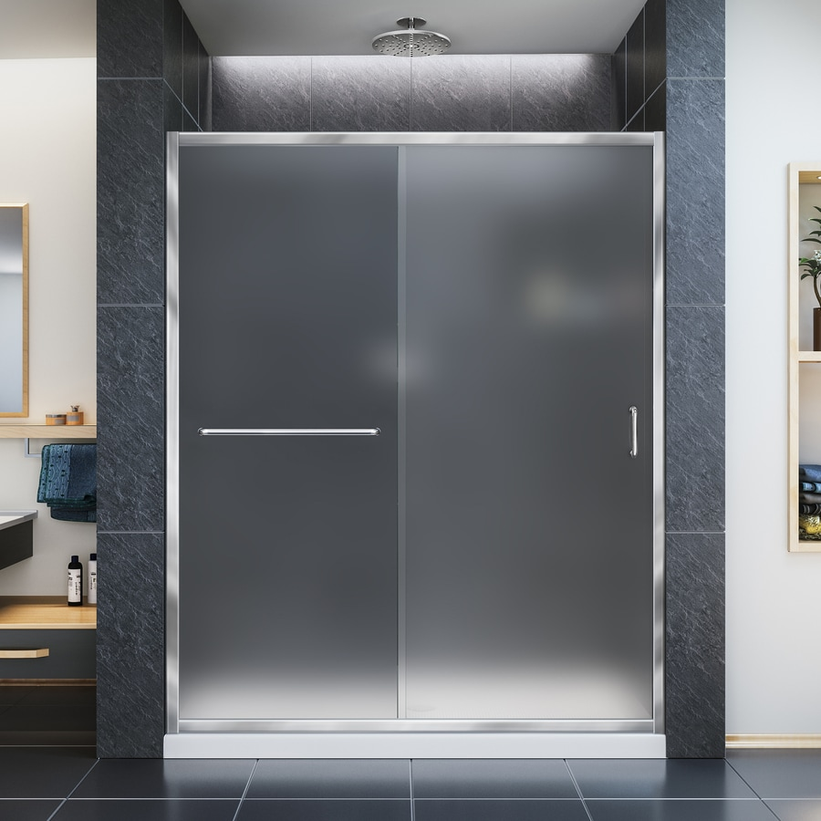 DreamLine Infinity-Z 56-in to 60-in W Frameless Chrome Sliding Shower Door