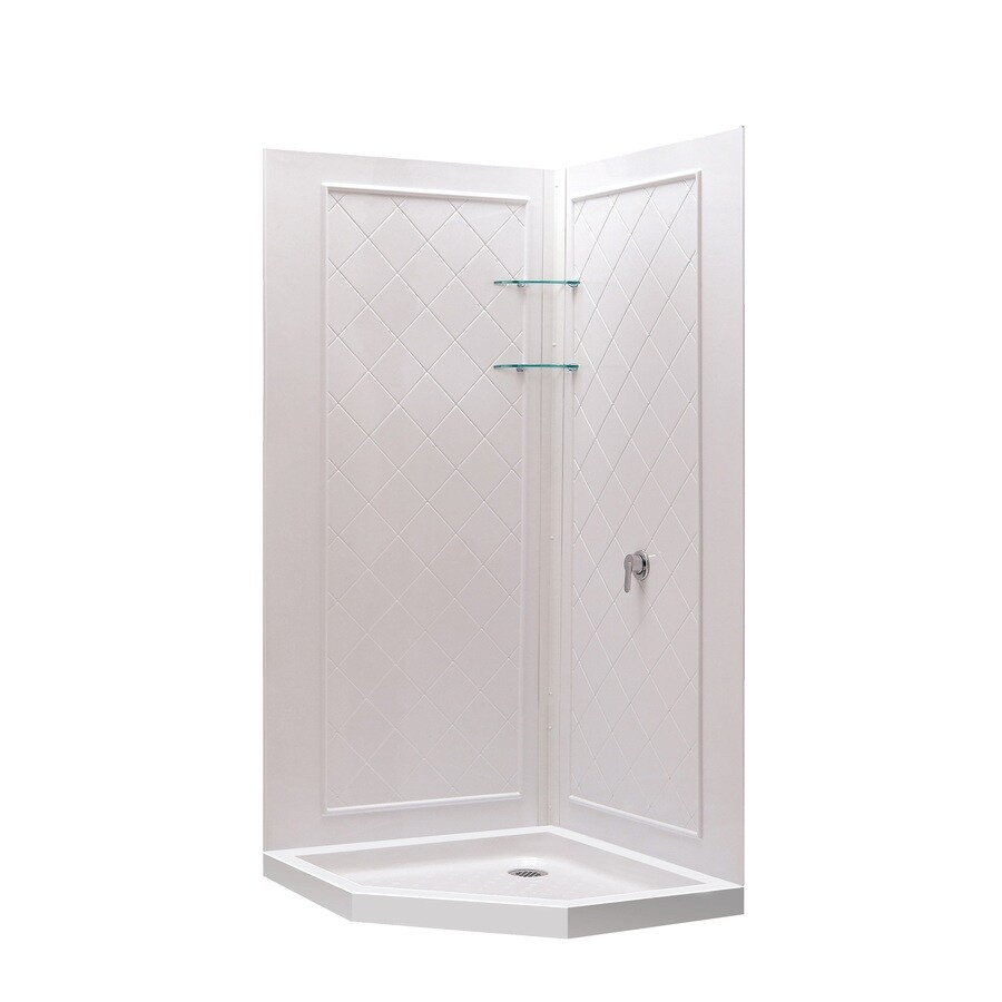 Dreamline Shower Backwall Kit White Acrylic Wall And Floor
