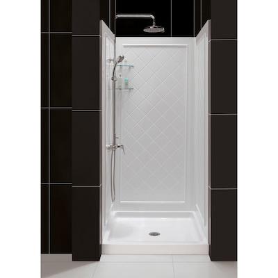 DreamLine QWALL-5 White 2-Piece Alcove Shower Kit (Common
