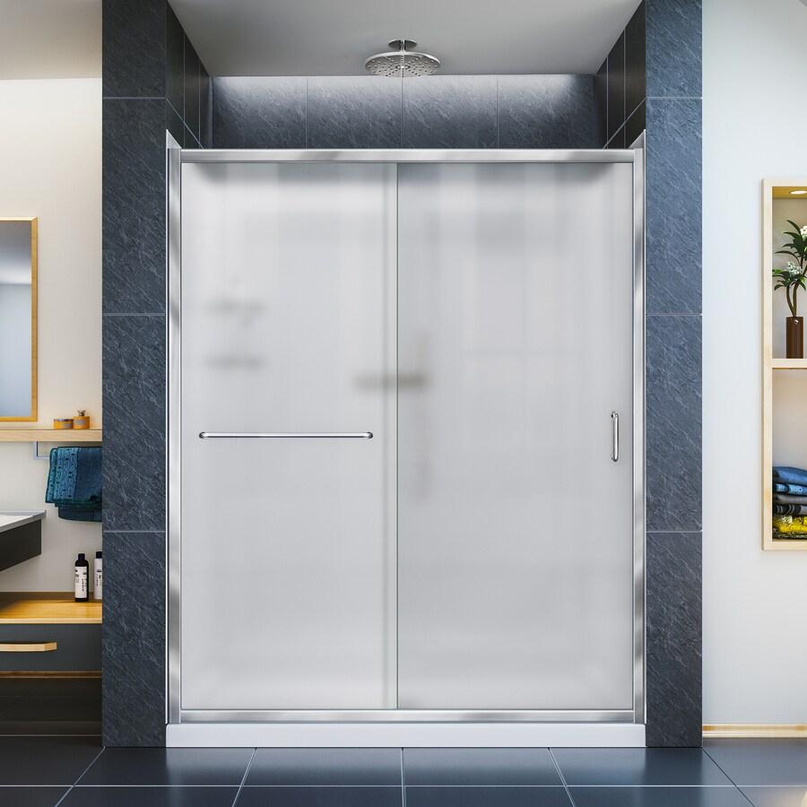 DreamLine Infinity-Z Chrome 3-Piece Alcove Shower Kit (Common: 32-in x 60-in; Actual: 32-in x 60-in)
