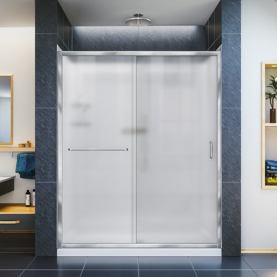 DreamLine Infinity-Z Chrome Acrylic Wall Acrylic Floor 3-Piece Alcove Shower Kit (Common: 32-in x 60-in; Actual: 76.75-in X