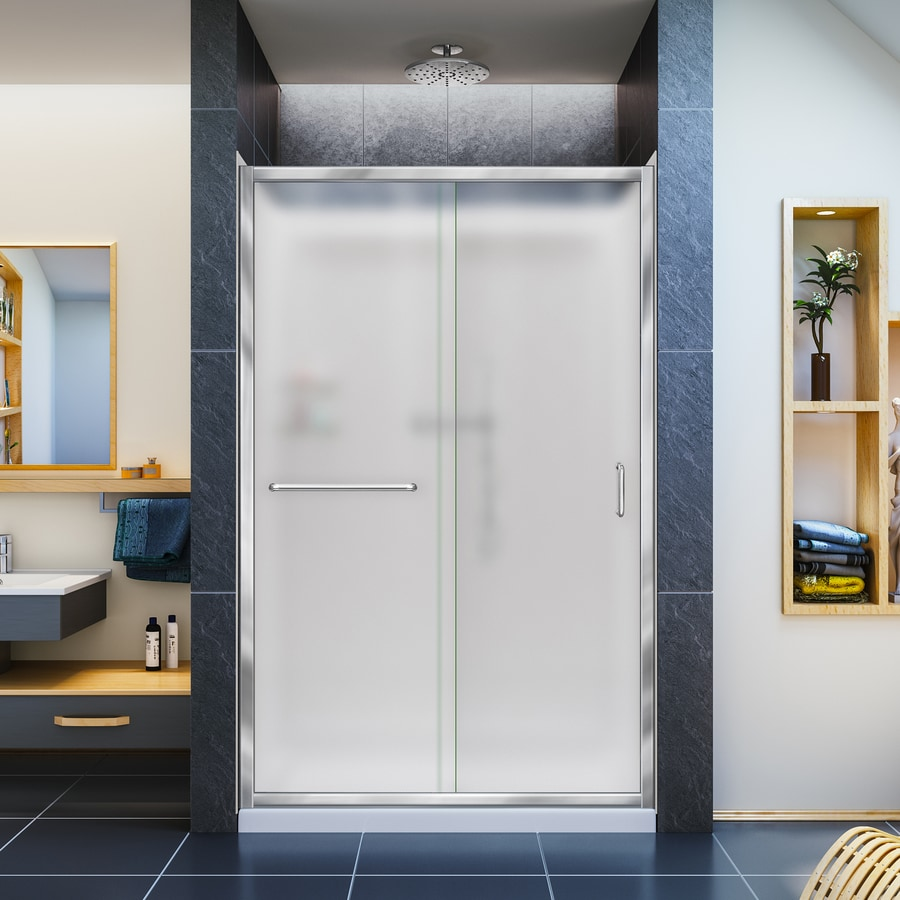 Dreamline Infinity Z Chrome 3 Piece Alcove Shower Kit Common 36 In X 48 In Actual 36 In X 48