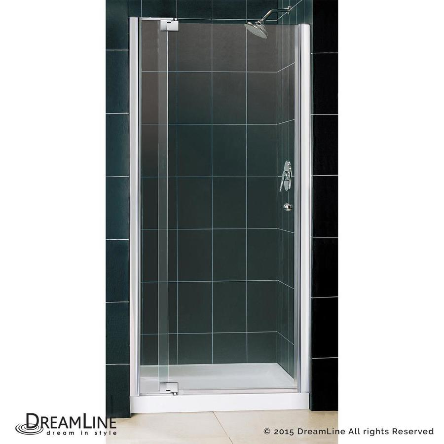 DreamLine Allure Chrome Wall Acrylic Floor 2-Piece Alcove Shower Kit (Common: 36-in x 36-in; Actual: 75.75-in x 36-in x 36-in)