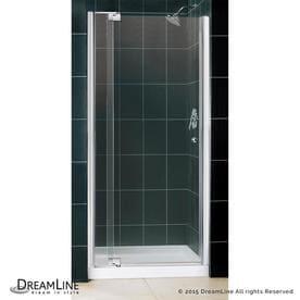 dreamline allure chrome 2piece alcove shower kit common 36in x