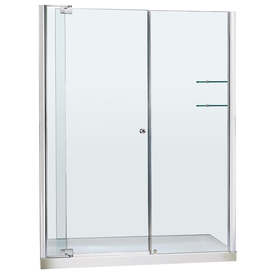 DreamLine Allure Chrome Acrylic Floor 2-Piece Alcove Shower Kit (Common: 30-in x 60-in; Actual: 75.75-in x 30-in x 60-in)
