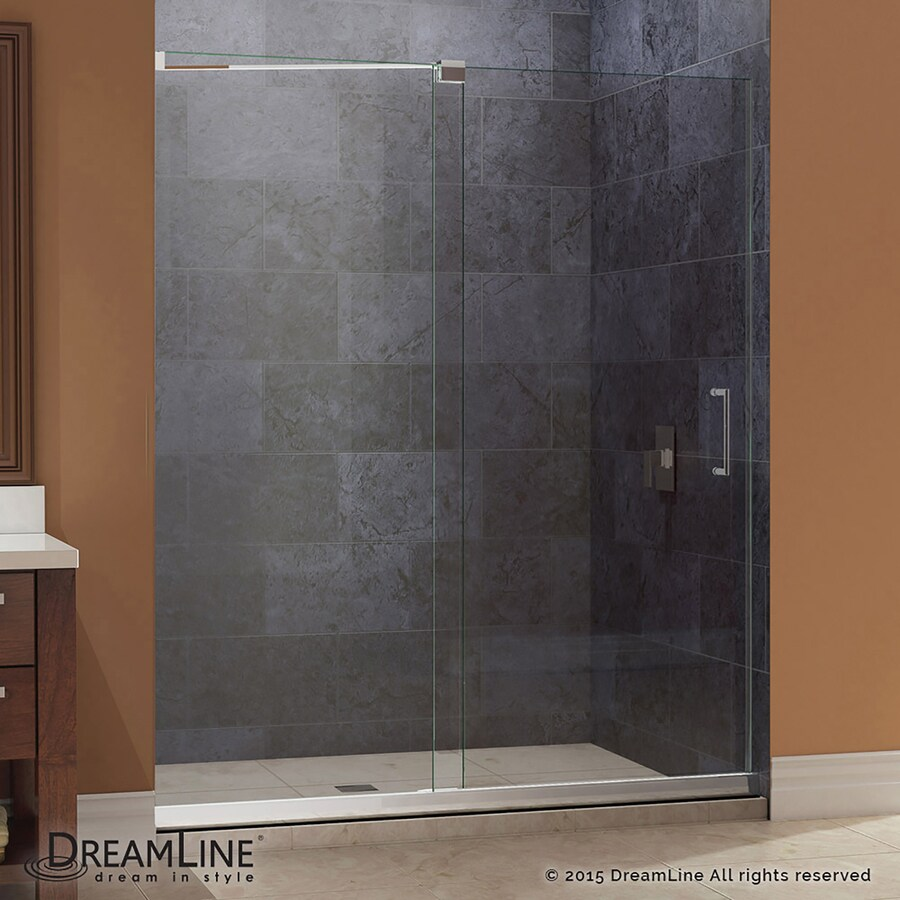 DreamLine Mirage Brushed Nickel Wall Acrylic Floor 2-Piece Alcove Shower Kit (Common: 36-in x 48-in; Actual: 74.75-in x 36-in x 48-in)