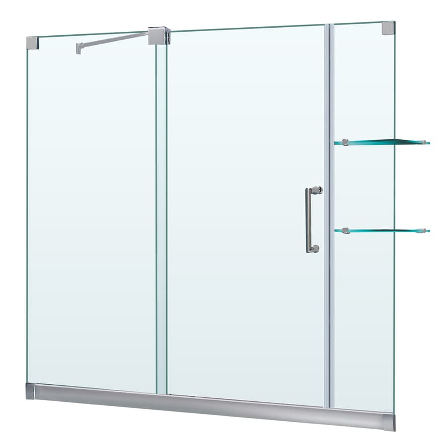 DreamLine Mirage Brushed Nickel Walls Not Included Wall Acrylic Floor 2-Piece Alcove Shower Kit (Common: 32-in x 60-in; Actual: 74.75-in X