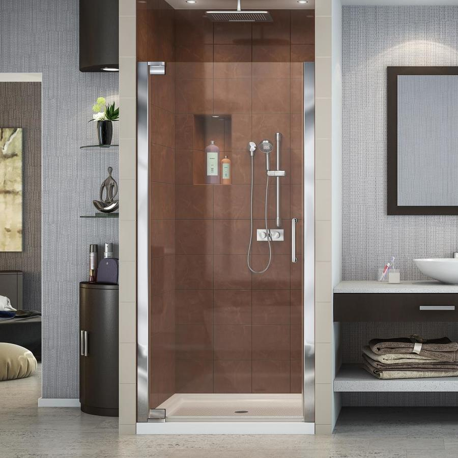 DreamLine Elegance Chrome Acrylic Floor 2-Piece Alcove Shower Kit (Common: 36-in x 36-in; Actual: 74.75-in x 36-in x 36-in)