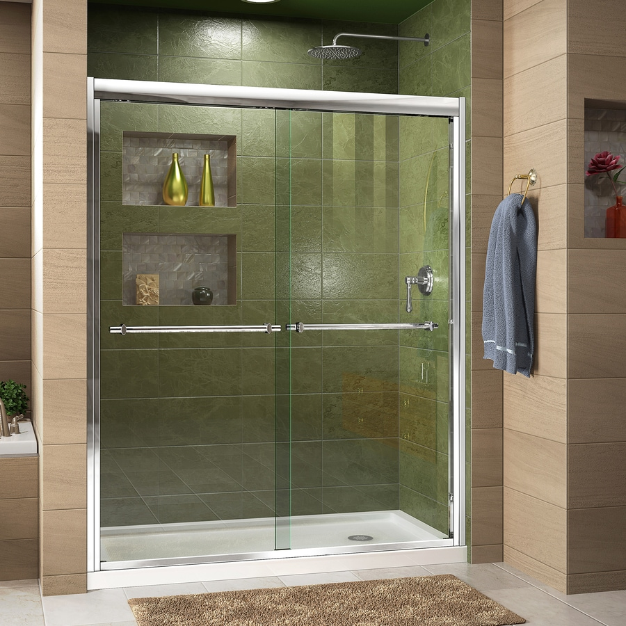 DreamLine Duet Chrome 2-Piece Alcove Shower Kit (Common: 36-in x 60-in; Actual: 36-in x 60-in)