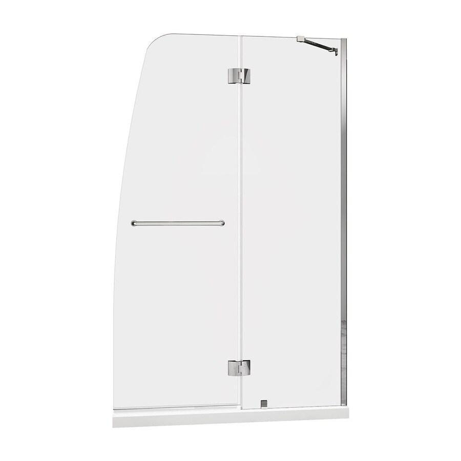 DreamLine Aqua Chrome Acrylic Floor 2-Piece Alcove Shower Kit (Common: 30-in x 60-in; Actual: 74.75-in x 30-in x 60-in)