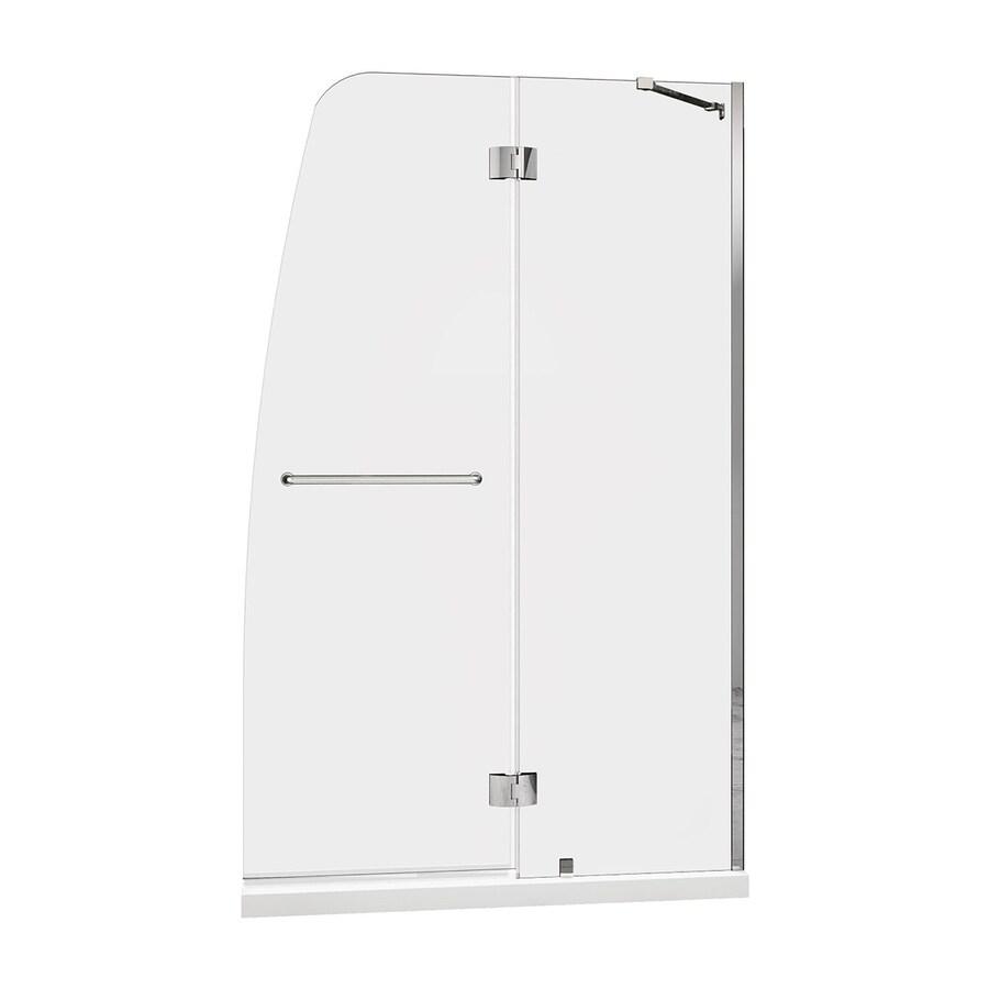 DreamLine Aqua Chrome Acrylic Floor 2-Piece Alcove Shower Kit (Common: 32-in x 60-in; Actual: 74.75-in x 32-in x 60-in)
