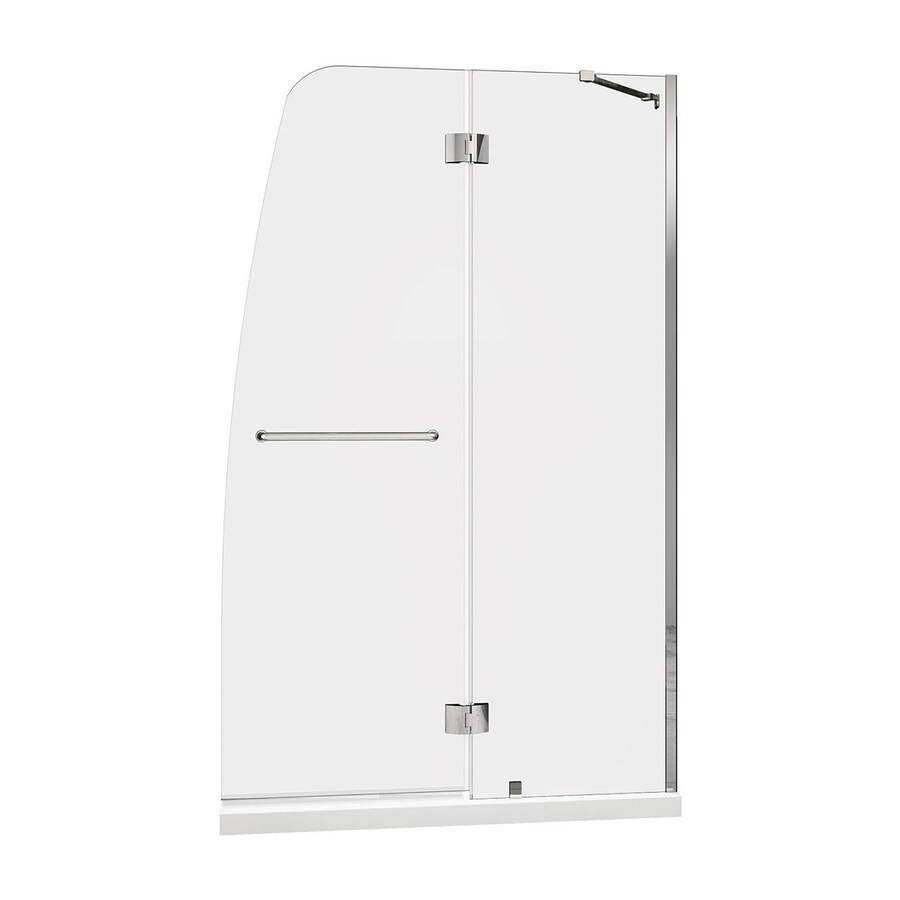 DreamLine Aqua Chrome Acrylic Floor 2-Piece Alcove Shower Kit (Common: 32-in x 60-in; Actual: 74.75-in x 32-in x 60-in)