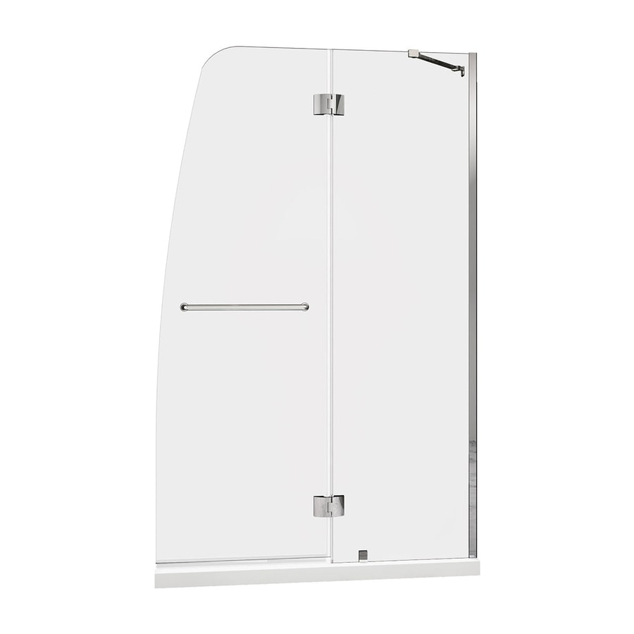 DreamLine Aqua Chrome Acrylic Floor 2-Piece Alcove Shower Kit (Common: 34-in x 60-in; Actual: 74.75-in x 34-in x 60-in)