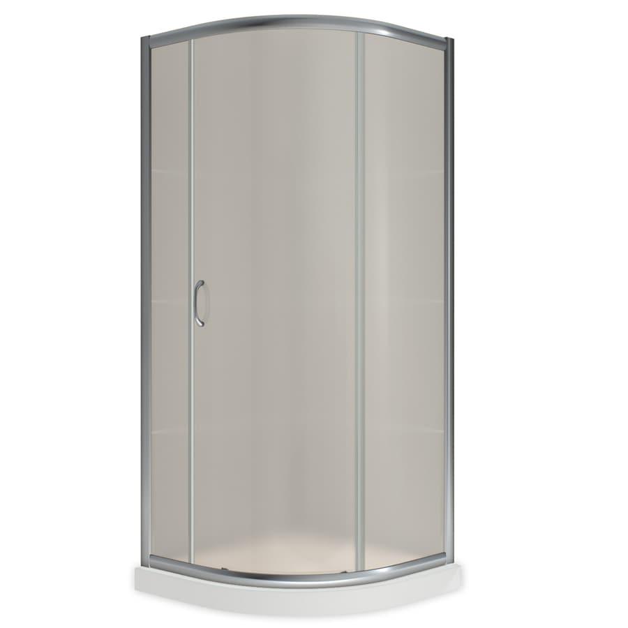 corner shower kits 36 x 36. DreamLine Solo Chrome Acrylic Floor Round 2 Piece Corner Shower Kit  Actual 74 75 Shop