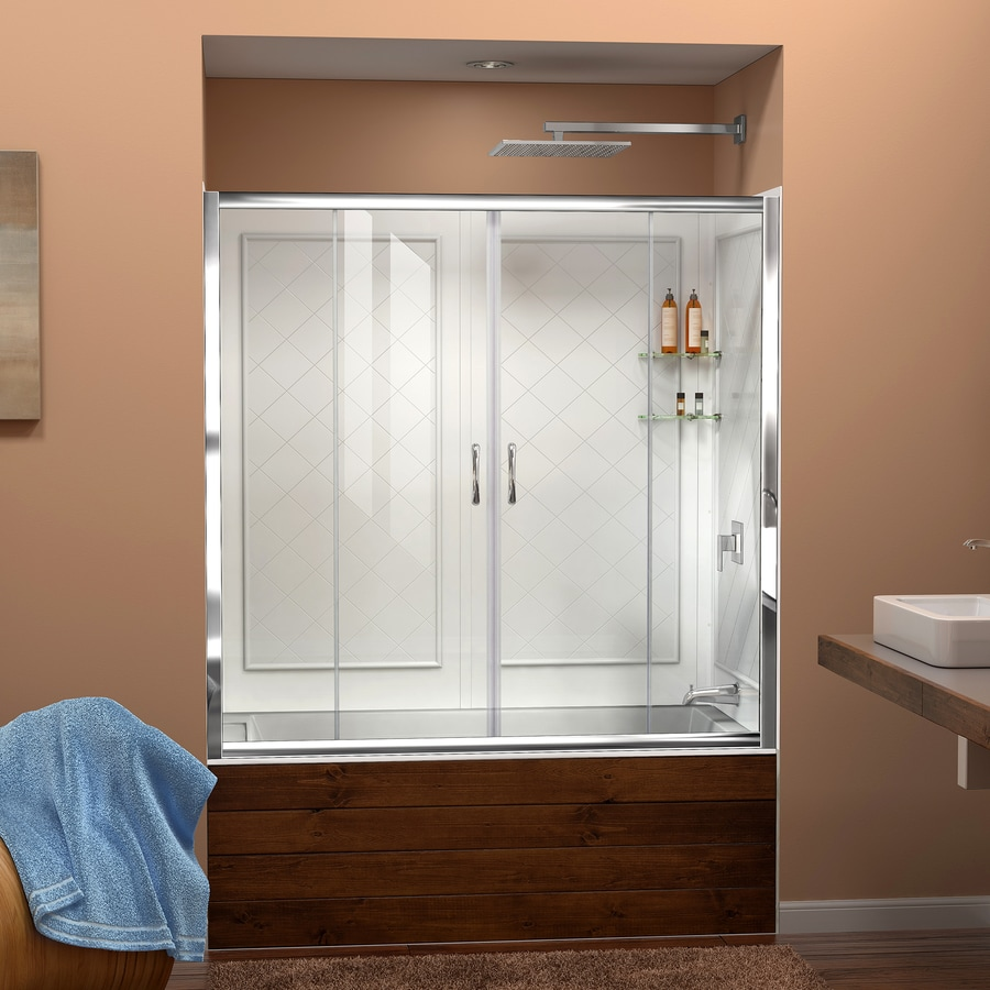 DreamLine Visions Chrome 2-Piece Alcove Shower Kit (Common: 32-in x 60-in; Actual: 60-in x 32-in x 60-in)