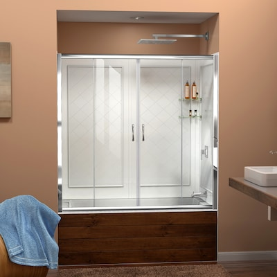 Visions Chrome 2 Piece Bathtub Shower Kit Common 32 In X 60 Actual