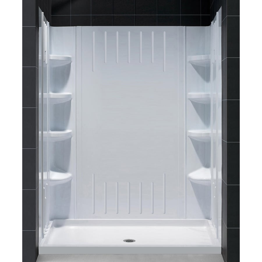 Shop Dreamline Qwall 3 White Acrylic Shower Wall Surround