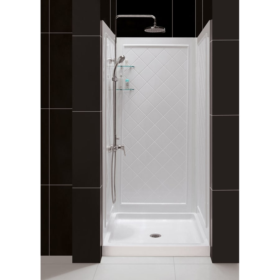 Shop DreamLine QWALL-5 White Shower Wall Surround Side and Back ...