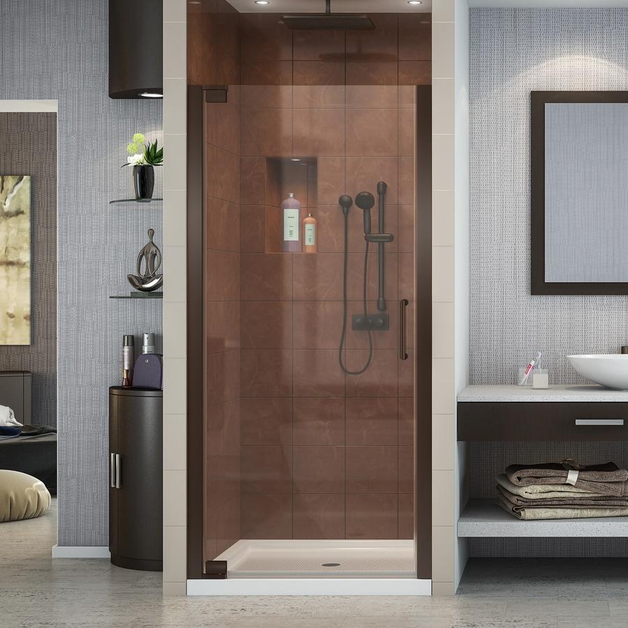 DreamLine Elegance 28.75-in to 30.75-in W Frameless Oil-Rubbed Bronze Pivot Shower Door