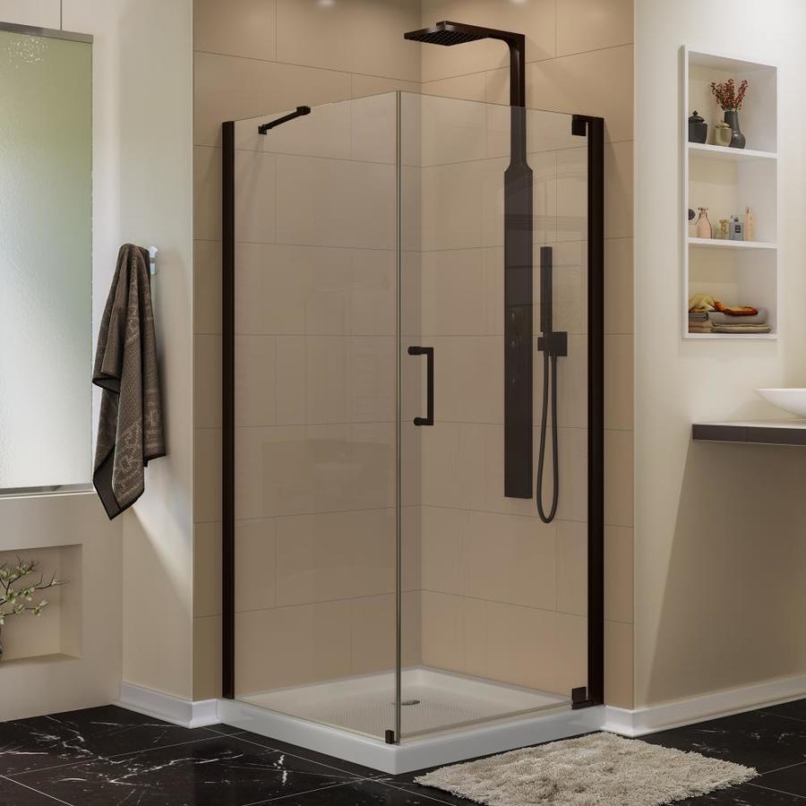 DreamLine Elegance 30-in to 30-in Frameless Oil Rubbed Bronze Hinged Shower Door