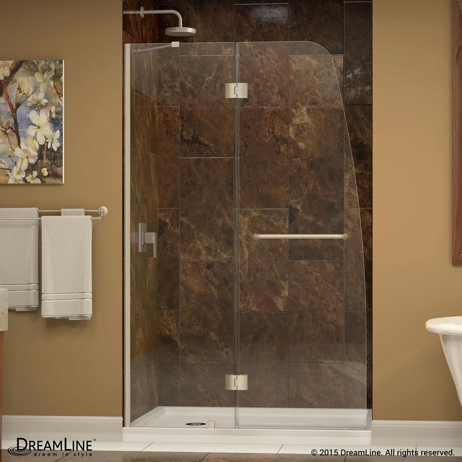 DreamLine Aqua 45.5-in to 45.875-in Frameless Hinged Shower Door