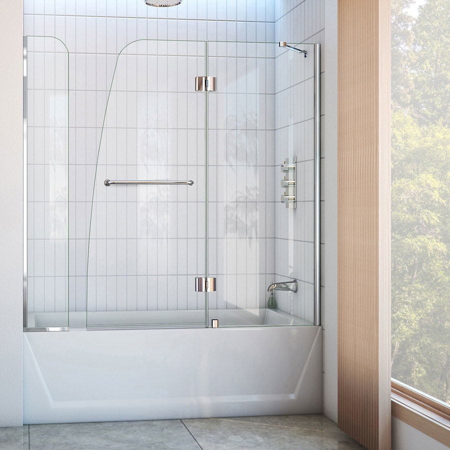 DreamLine Aqua 60-in W x 58-in H  Bathtub Door