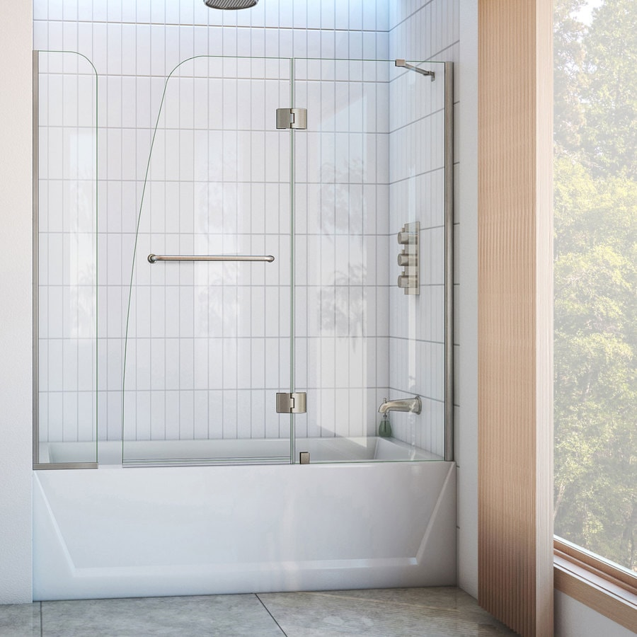 DreamLine Aqua 60-in W x 58-in H Frameless Bathtub Door