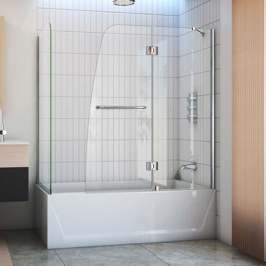 Shop Dreamline Aqua 60 In W X 58 In H Frameless Bathtub