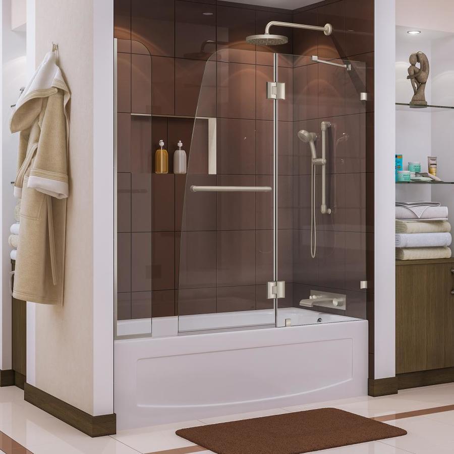 DreamLine Aqua Lux 60-in W x 58-in H Frameless Bathtub Door