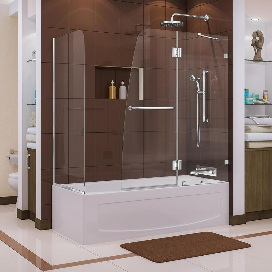 DreamLine Aqua Lux 60-in W x 58-in H Frameless Bathtub Door