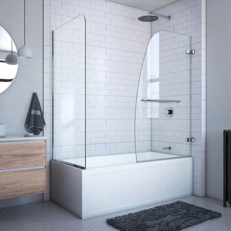 DreamLine Aqua Uno 60-in W x 58-in H Frameless Bathtub Door