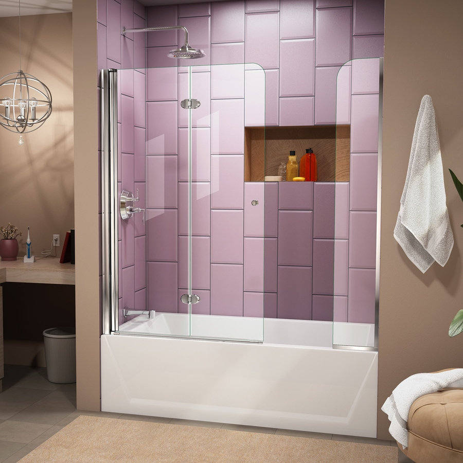 DreamLine Aqua Fold 60-in W x 58-in H Frameless Bathtub Door