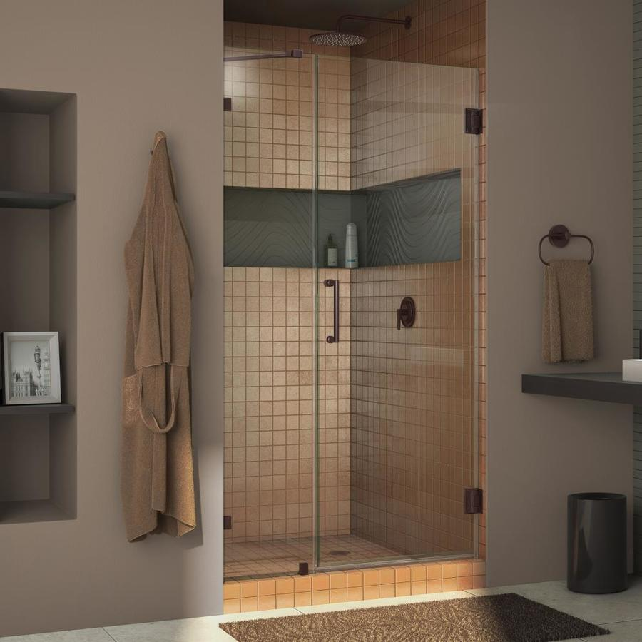 DreamLine Unidoor Lux 37-in to 37-in Frameless Hinged Shower Door