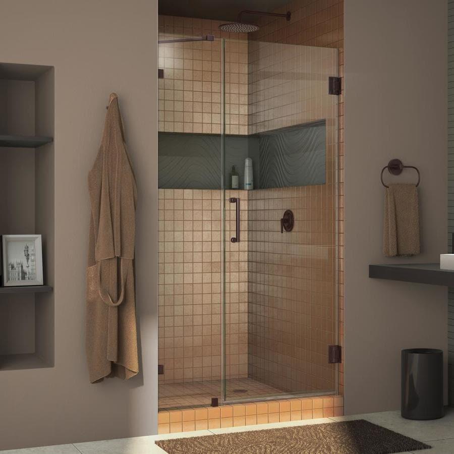 DreamLine Unidoor Lux 40-in to 40-in Frameless Hinged Shower Door