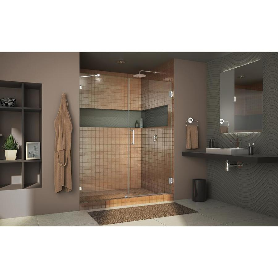 DreamLine Unidoor Lux 58-in to 58-in W Frameless Oil Rubbed Bronze Hinged Shower Door