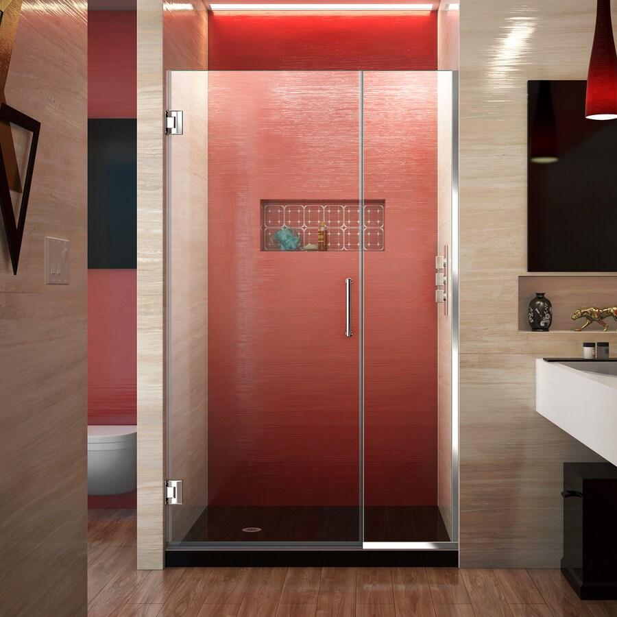 DreamLine Unidoor Plus 39-in to 39.5-in Frameless Hinged Shower Door