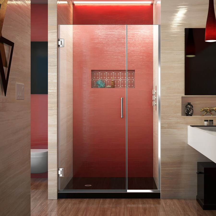 DreamLine Unidoor Plus 39.5-in to 40-in Frameless Hinged Shower Door