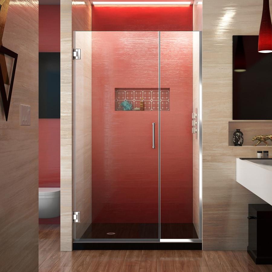 DreamLine Unidoor Plus 42.5-in to 43-in Frameless Hinged Shower Door