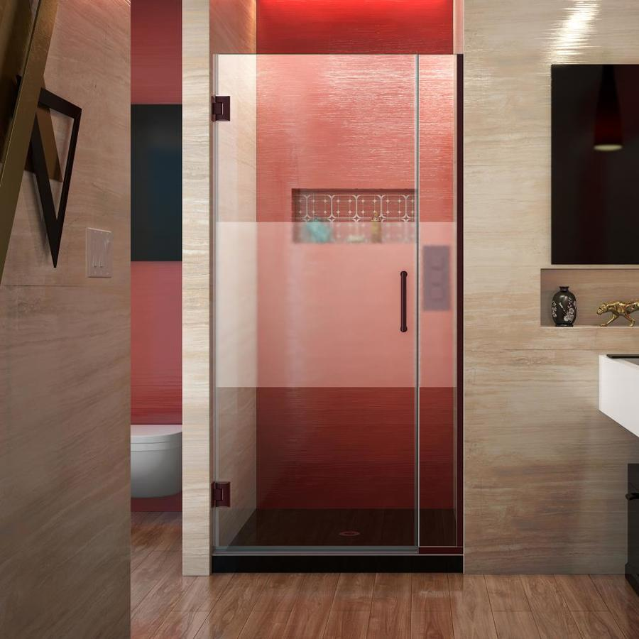 DreamLine Unidoor Plus 35-in to 35.5-in Frameless Hinged Shower Door