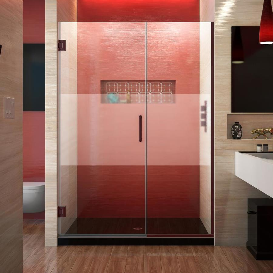 DreamLine Unidoor Plus 51-in to 51.5-in Frameless Hinged Shower Door