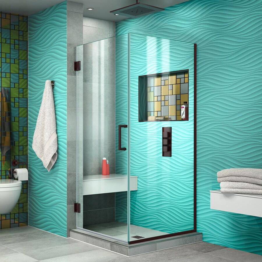 DreamLine Unidoor Plus 30.375-in to 30.375-in Frameless Hinged Shower Door