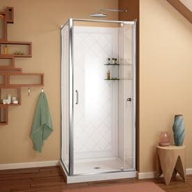 corner shower stalls. DreamLine Flex Hardware : Chrome; Base And Backwall Color: White Wall  Acrylic Floor Square Corner Shower Stalls E