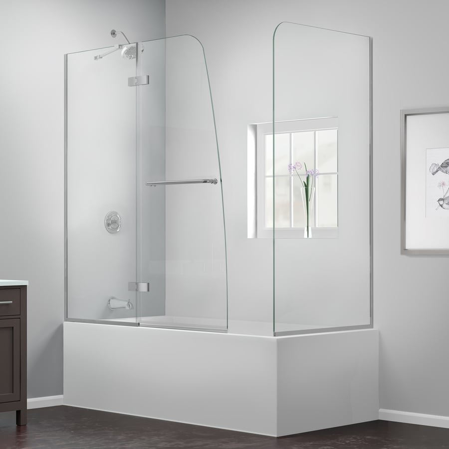 Shop DreamLine Aqua Ultra 60-in W x 58-in H Frameless Bathtub Door ...