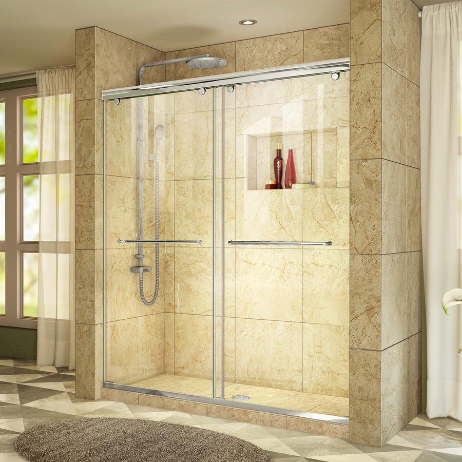 DreamLine Charisma 56-in to 60-in Frameless Chrome Sliding Shower Door