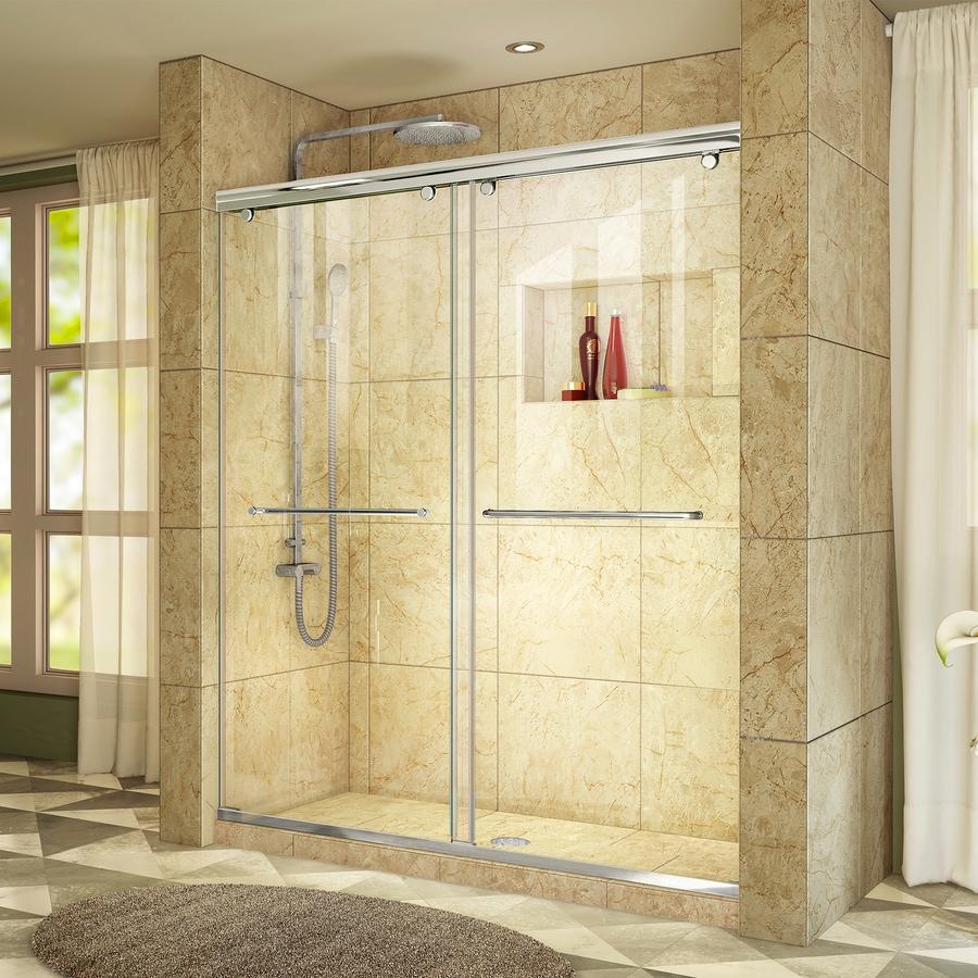 DreamLine Charisma 56-in to 60-in W Frameless Chrome Sliding Shower Door