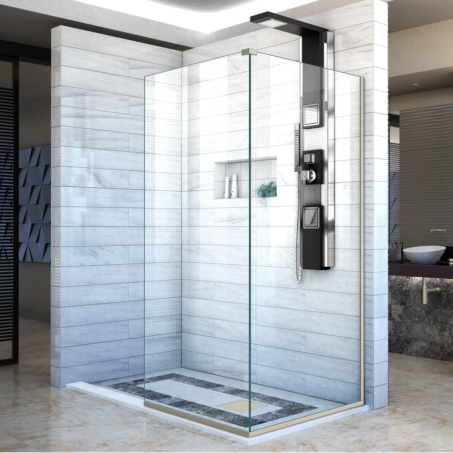 DreamLine Linea 72-in H x 30-in W Clear Shower Glass Panel