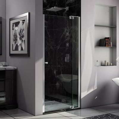 Allure 34 In To 35 W Frameless Pivot Chrome Shower Door