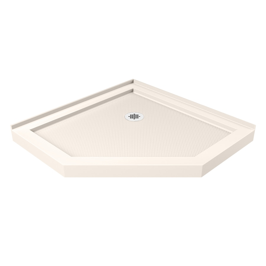DreamLine SlimLine 40-in L x 40-in W Biscuit Acrylic Neo-Angle Corner Shower Base