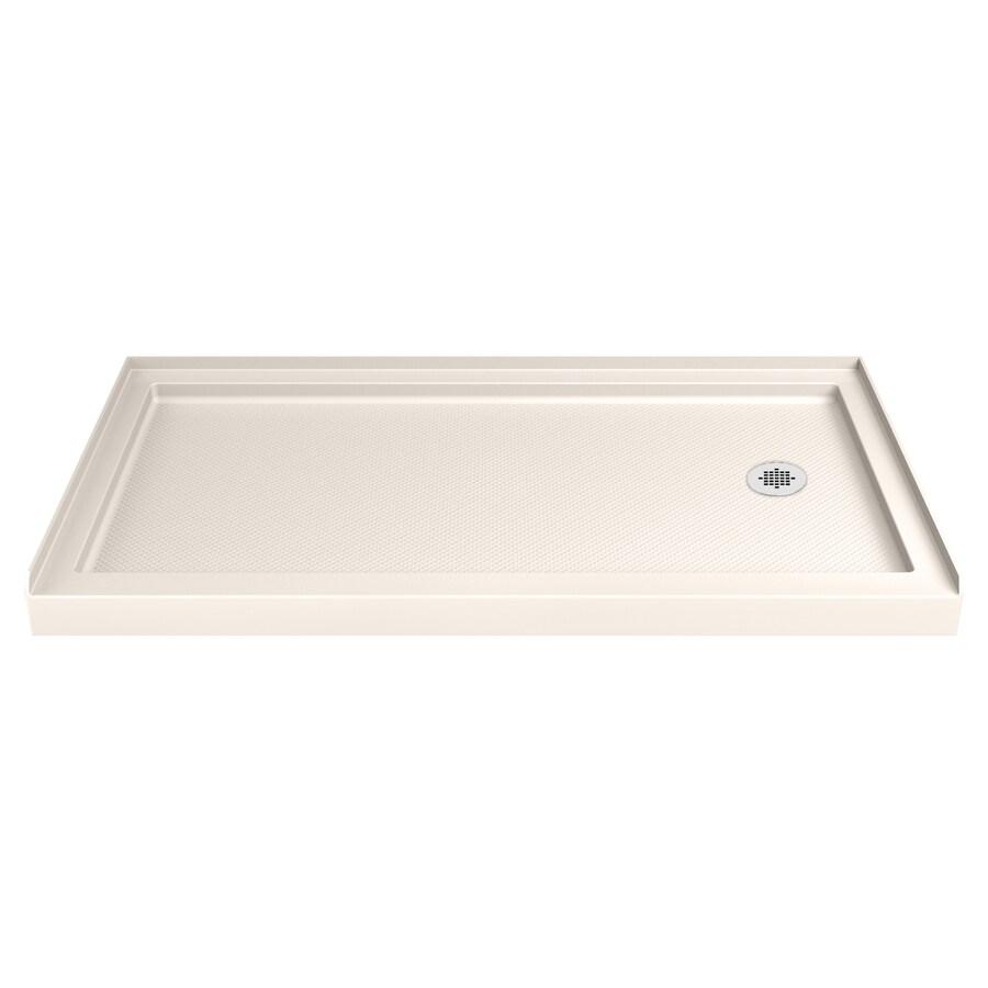 DreamLine Slimline Biscuit Acrylic Shower Base (Common: 30-in W x 60-in L; Actual: 30-in W x 60-in L)